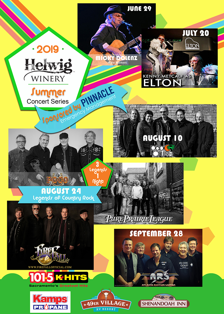 helwig winery 2019 summer concerts